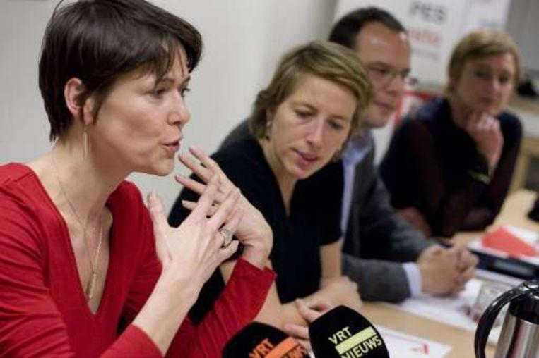 De Europese sp.a-lijst wordt getrokken door Kathleen Van Brempt en niet door oud-ABVV-voorzitster Mia De Vits. Beeld UNKNOWN