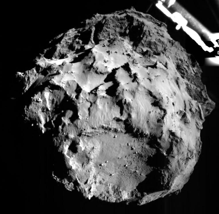 De komeet 67P/C, gefotografeerd door Philae Beeld afp