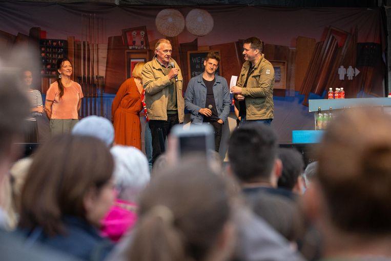 Ann Pira, Pol Goossen, Jeroen Lenaerts en Raf Jansen.