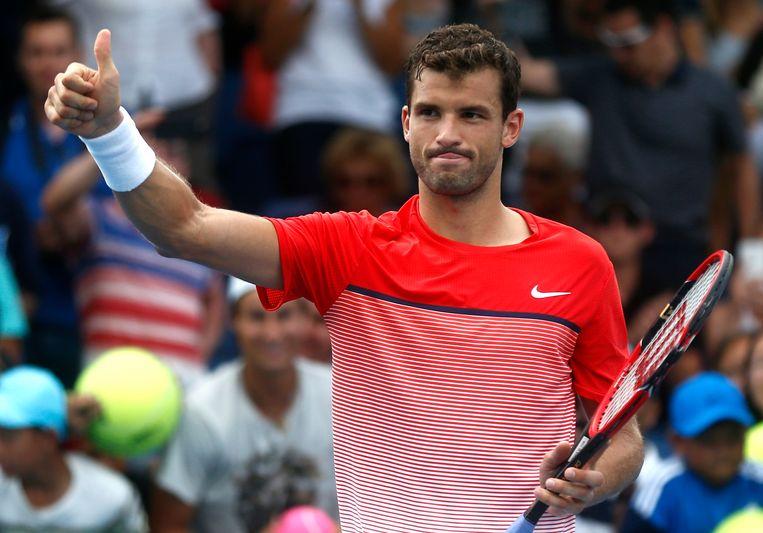 Grigor Dimitrov alias 'baby Federer'. Beeld AP