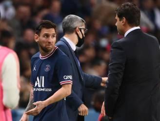 Messi sinds 2010 nog maar 17 keer gewisseld, maar in zijn eerste basisstek bij PSG tot zijn onvrede naar de kant