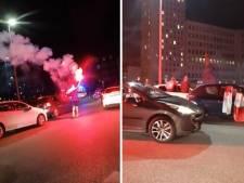 La folie dans les rues de Charleroi après la défaite de la France à l'Euro