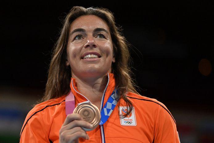 Nouchka Fontijn (38) nam afscheid met brons bij het boksen.