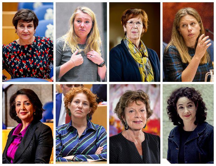 Lilianne Ploumen, Melanie Schultz, Annemarie Jorritsma, Carola Schouten, Khadija Arib, Kathalijne Buitenweg, Neelie Kroes en Femke Halsema.