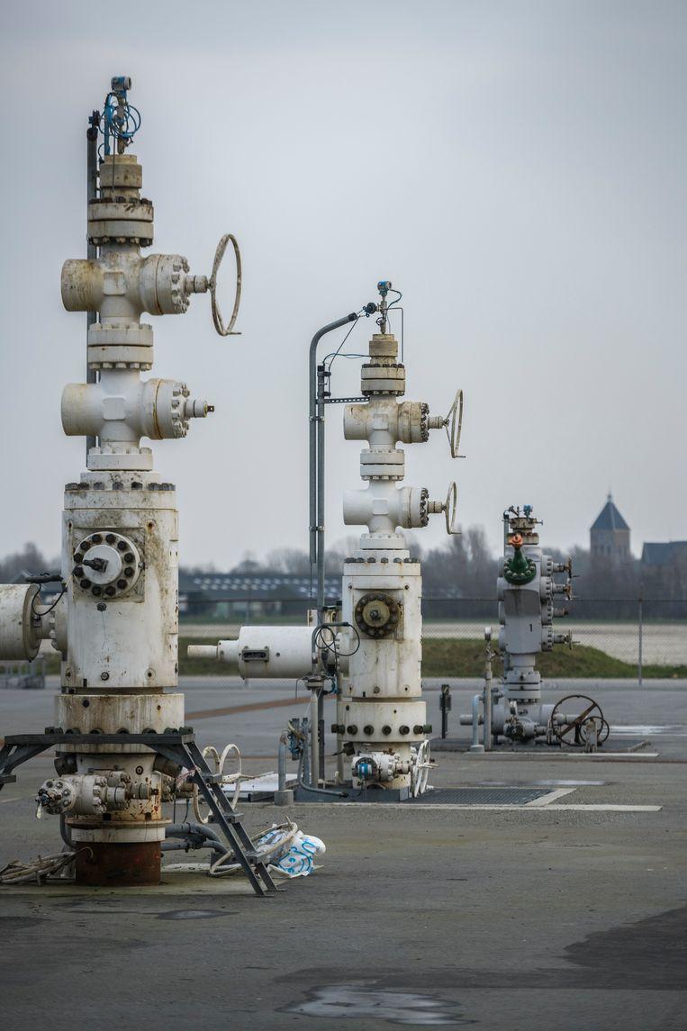 De gassite bij Zeerijp in Nederland. Daar werd begin dit jaar nog een aardbeving gemeten. Beeld Hollandse Hoogte / Kees van de Veen