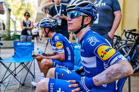 Remco Evenepoel vierde in de Ronde van San Juan zijn profdebuut. Tijdens de trainingstochten onder een loden Argentijnse zon verbrandde hij zich. De dagen nadien was zonnecrème smeren dus de boodschap.