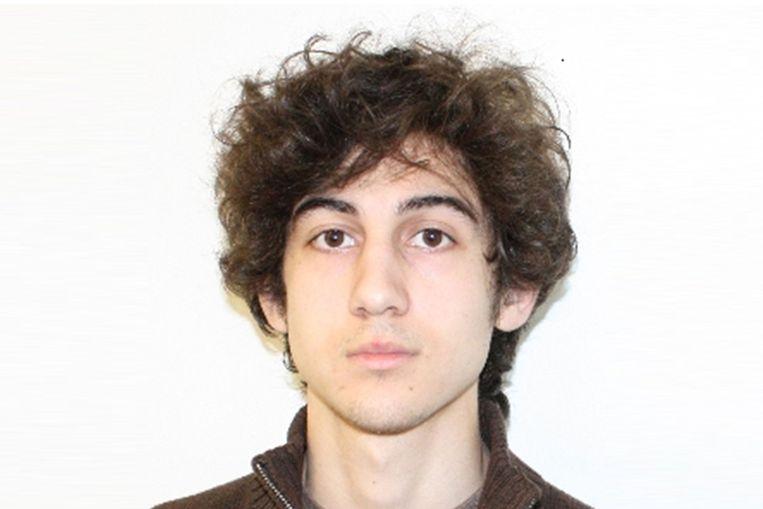 Aanslagpleger Dzhokhar Tsarnaev op een politiebeeld. Beeld AFP