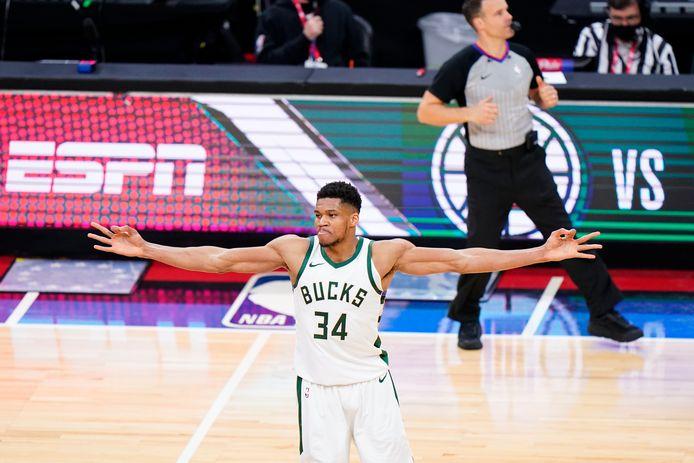 Giannis Antetokounmpo, de sterspeler van Milwaukee Bucks.