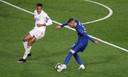 Hakim Ziyech in actie tegen Real Madrid.