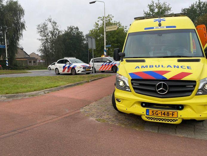 Hulpdiensten op de plek van het ongeluk in Hengelo