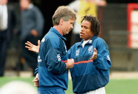 Guus Hiddink en Edgar Davids.