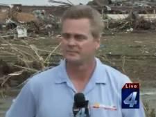 Ervaren reporter in tranen tijdens verslag Oklahoma