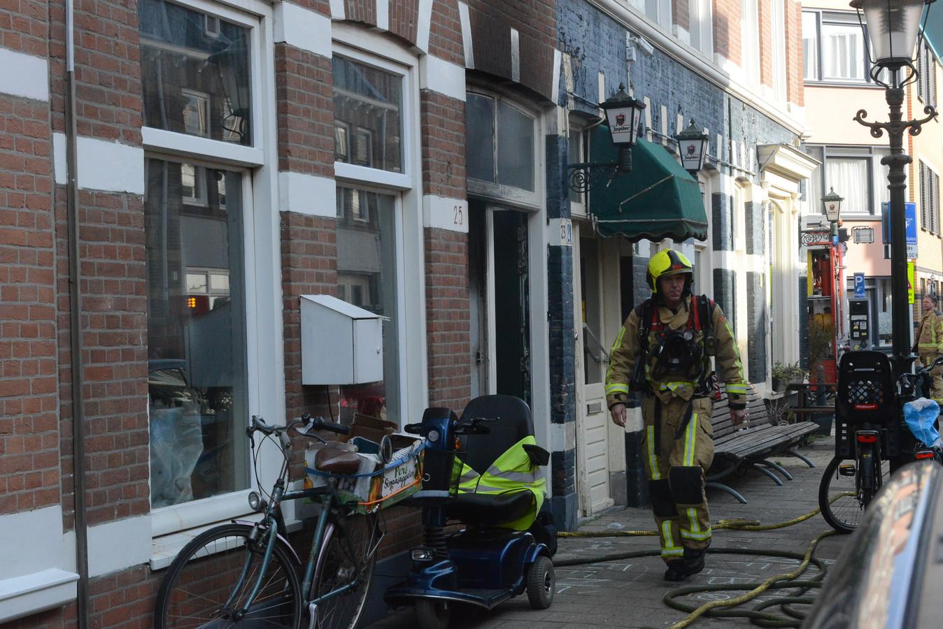 Brand in woning aan de Haagse Chasséstraat.
