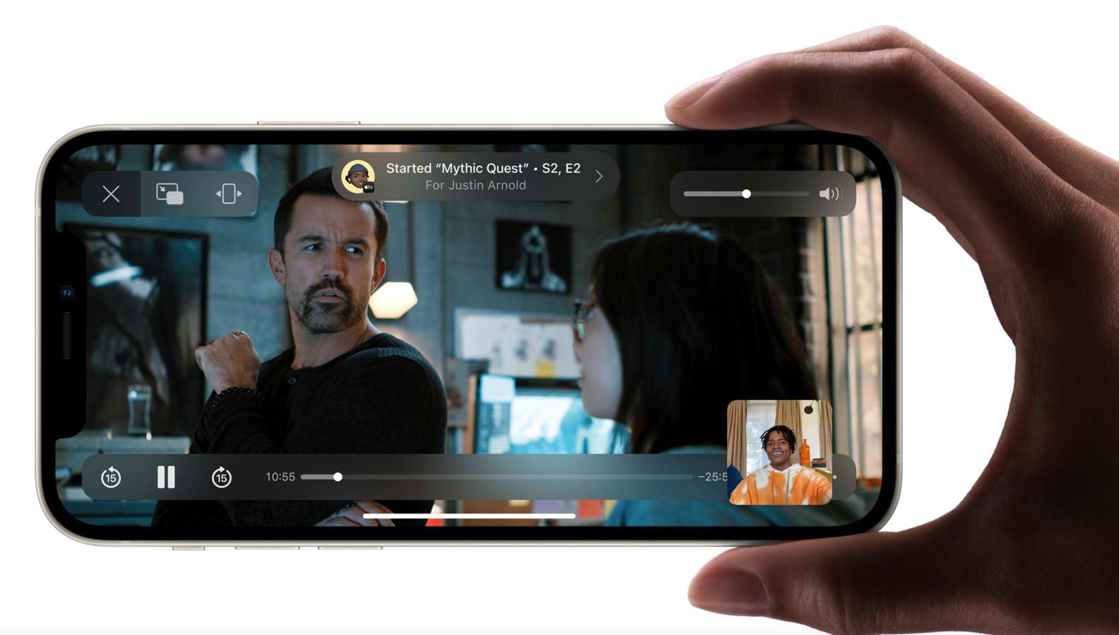 Facetime laat gebruikers nu ook samen films kijken.