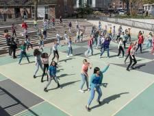 Dansen, zingen en springen: theaterscholen nemen videoclip op voor het Eurovisie Songfestival