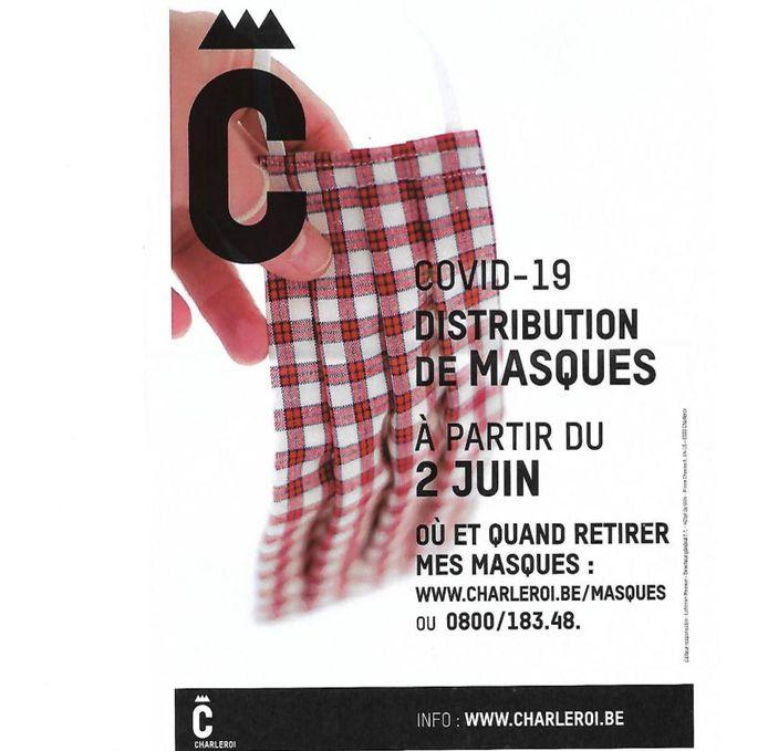 Tract de la Ville de Charleroi sur les masques