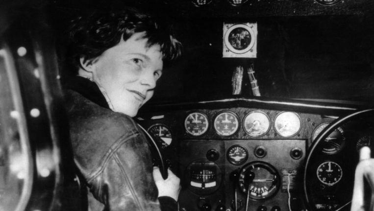 Amelia Earhart. Beeld AFP