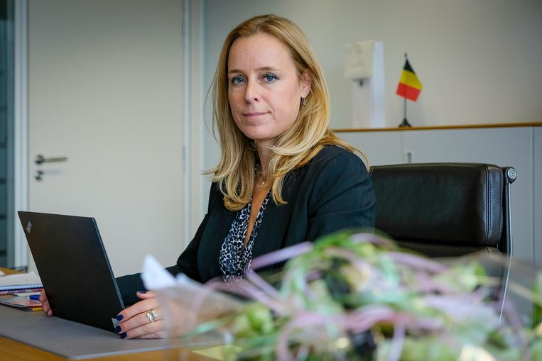 Staatssecretaris voor Begroting Eva De Bleeker (Open Vld). Beeld Marc Baert