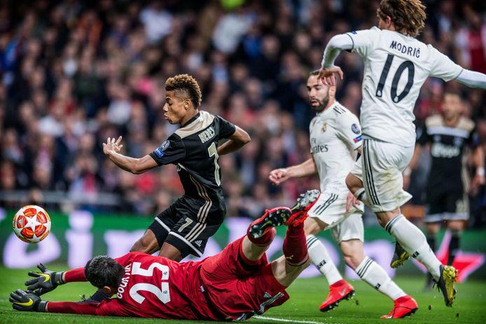 Vorig jaar won Ajax met 1-4 in Bernabéu.