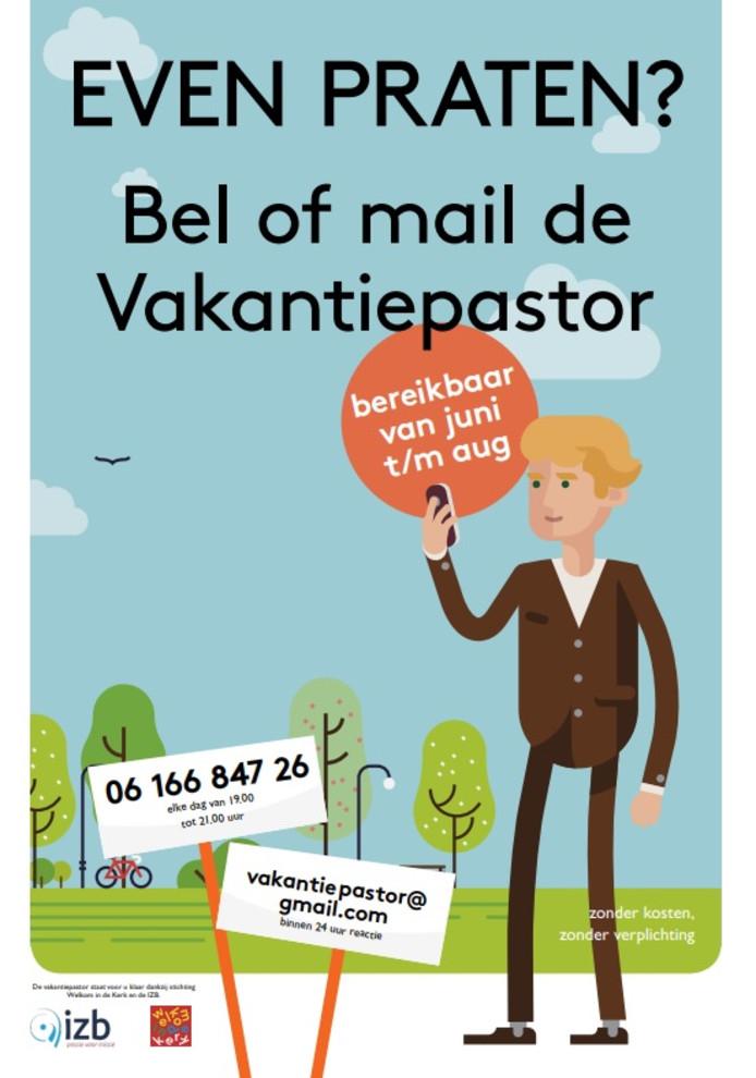 De poster van de Vakantiepastor.