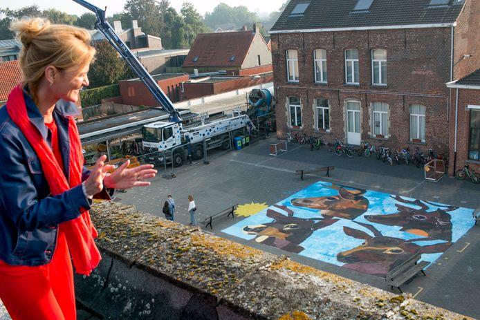 Leerkracht Liesbeth Hermans van de Sint-Catharinaschool is enthousiast over het resultaat.
