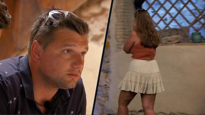 Bert en Delphine in 'Temptation Island: Love or Leave'.