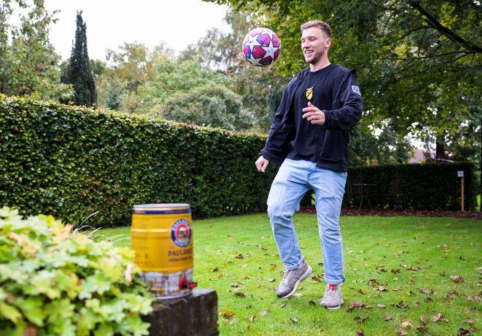 Joep Klerx, speler van VV Baardwijk. Hij heeft 2 jaar in München gewoond.