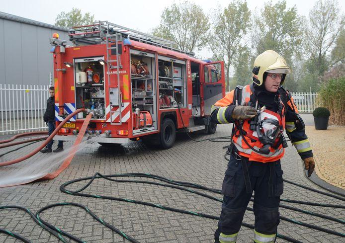 Bevelvoerder Sietse van der Sar van de brandweer Dreischor.