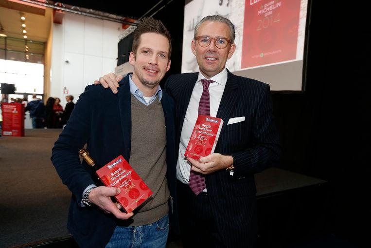 Michael Vrijmoed en zijn oude mentor Peter Goossens (archiefbeeld) zijn samen goed voor 5  van de 18 Oost-Vlaamse Michelinsterren
