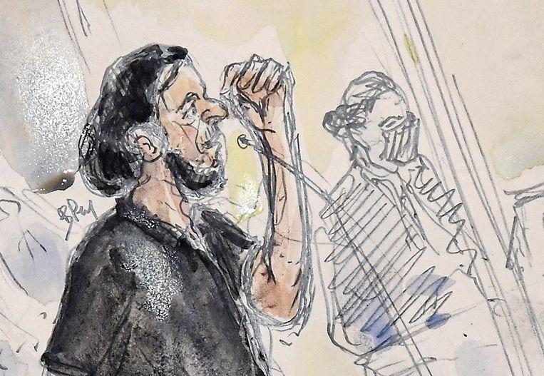 Het terreurproces tegen Brusselaar Salah Abdeslam is twee weken geleden begonnen. Beeld AFP