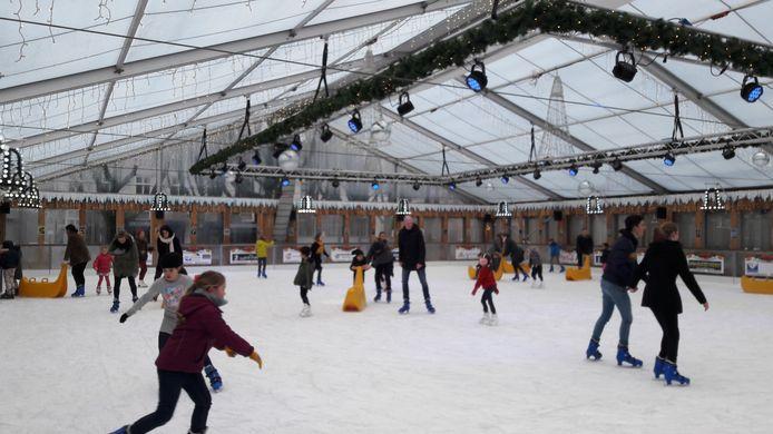 De ijsbaan van Winterland Den Bosch vorig jaar.