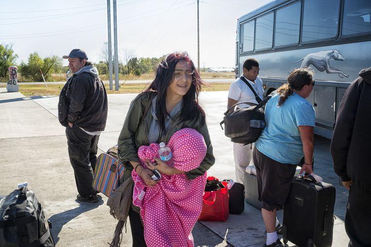 Sara Jewel. 17 jaar oud, op haar 11de aan de weed en tegenwoordig aan de crystal meth. Wil weg uit het 'verrotte' Tulsa, Oklahoma. Beeld Inge Hondebrink