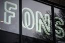 Het Object: de letters FONS achter de voorgevel van het bedrijfspand.