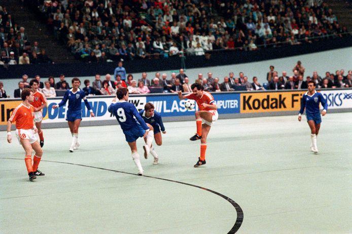 Finale van WK zaalvoetbal op 15 januari 1989 in Nederland.