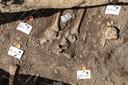 Deel van de vondsten op het Grote Kerkhof.