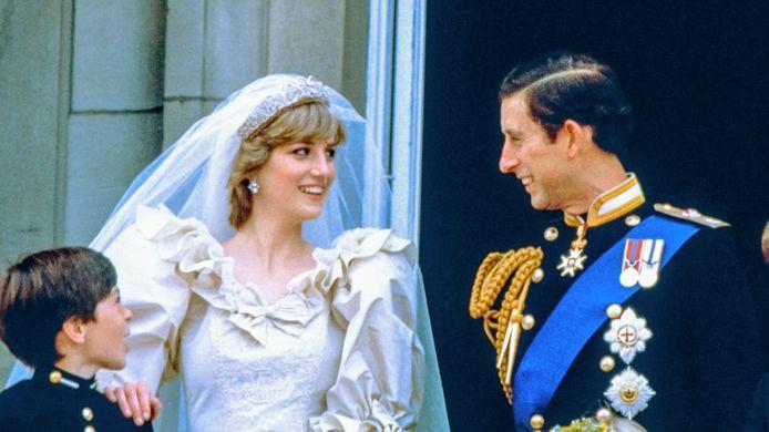 Diana en Charles op hun trouwdag, exact 40 jaar geleden.