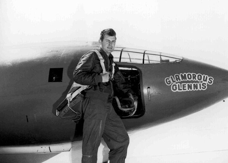 Met zijn Glamorous Glennis doorbrak Chuck Yeager in 1947 als eerste de geluidsbarrière.  Beeld AFP