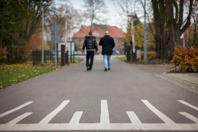 Deel van het terrein van de Stichting Ottho Gerhard Heldring aan de Wageningsestraat in Zetten.