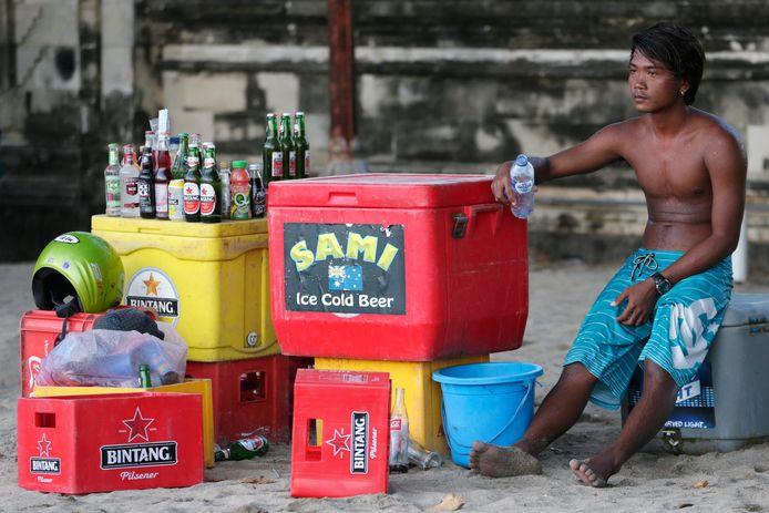 Een Indonesische straatverkoper.