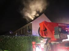 Zolderbrand op de Maasstraat in Enspijk