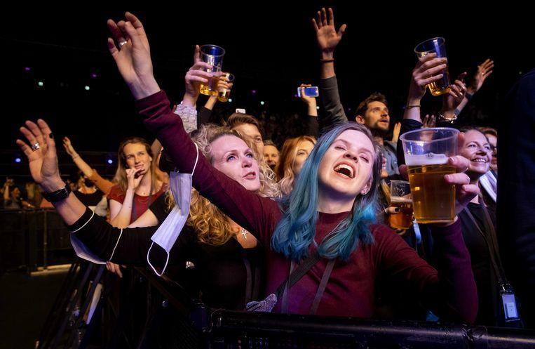 Bezoekers in de Ziggo Dome tijdens een optreden van Andre Hazes. Beeld ANP