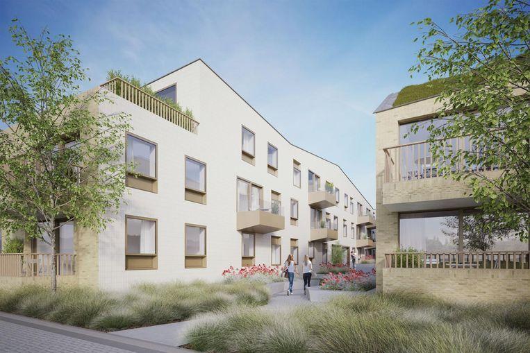Een toekomstbeeld van de parkappartementen.