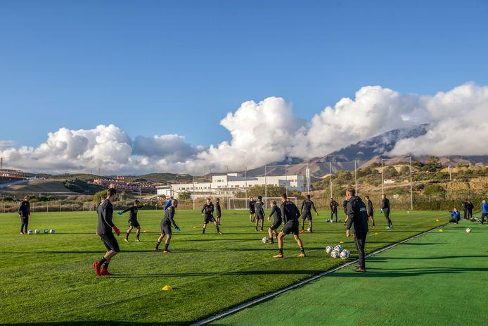 De spelers van AZ vorig jaar op trainingskamp in Estepona.
