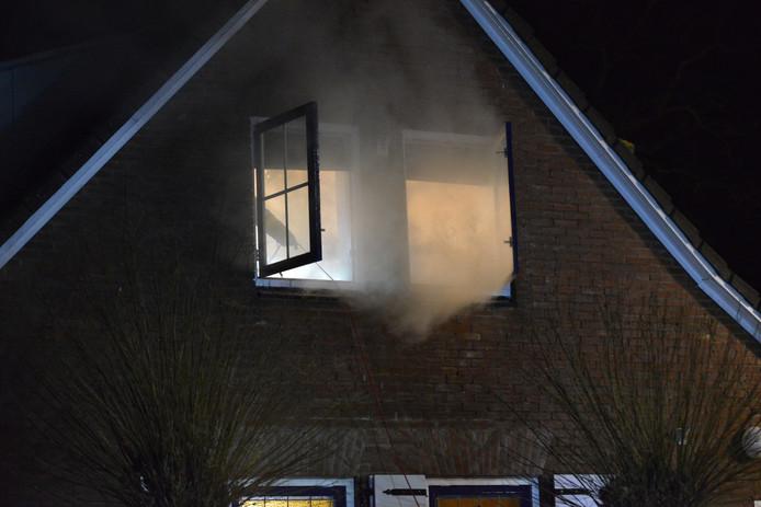 Woningbrand Strijbeek.