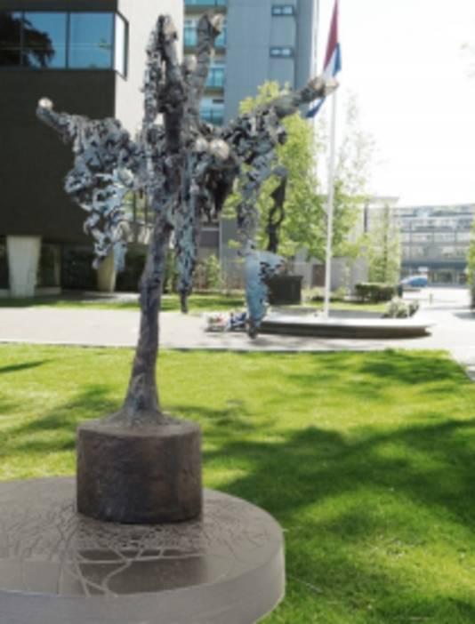Voorlopige impressie van het Holocaustmonument in het Vrijheidspark.
