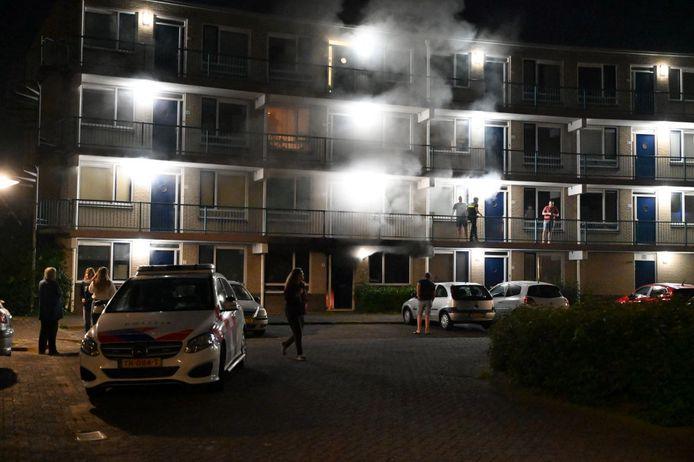 Brand in De Barrage in Dronten