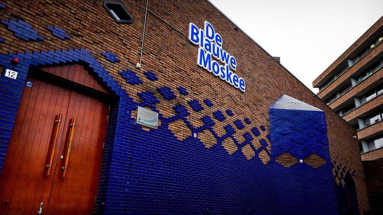 De Blauwe Moskee wil op vrijdagmiddag de oproep tot gebed versterkt laten klinken door Slotervaart. Beeld ANP