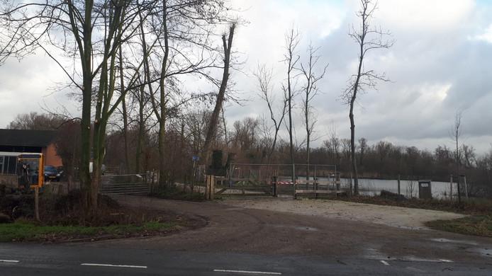 Het Drutens Bosje was maandagochtend nog dicht.