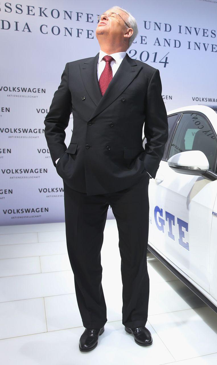 Martin Winterkorn, nu nog CEO van Volkswagen. Beeld GETTY
