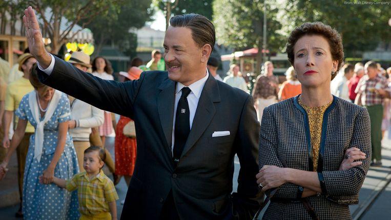 Tom Hanks en Emma Thompson in Saving Mr. Banks van John Lee Hancock. Beeld